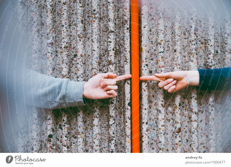 Contact Arm Hand Fingers 2 Human being Line Touch Communicate Trust Friendship Together Love Loyalty Advice Relationship Emotions Idyll Team Teamwork Attachment