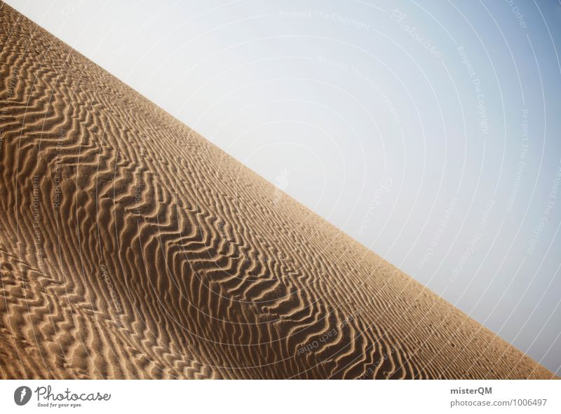 Blown away II Art Esthetic Contentment Desert Structures and shapes Undulation Sand Sandy beach Surface Sahara Warmth Colour photo Subdued colour Exterior shot