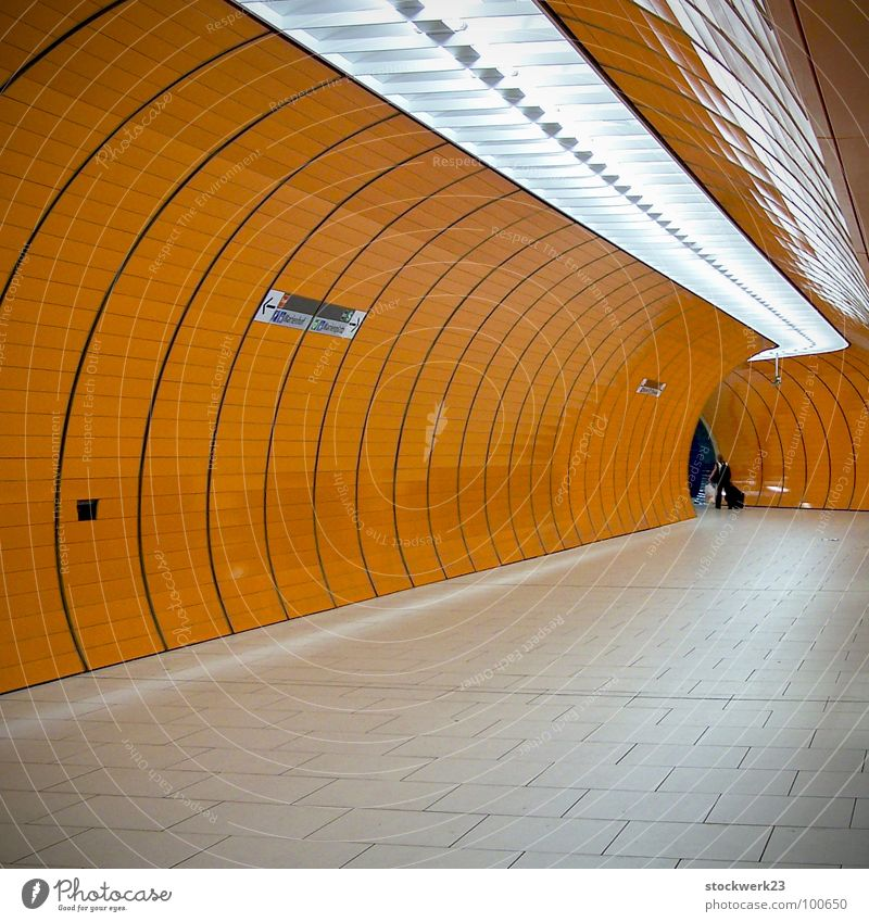 Vacation & Travel Loneliness Logistics Tunnel Underground Train station Tourist Neon light Insulation Public transit Exclusion