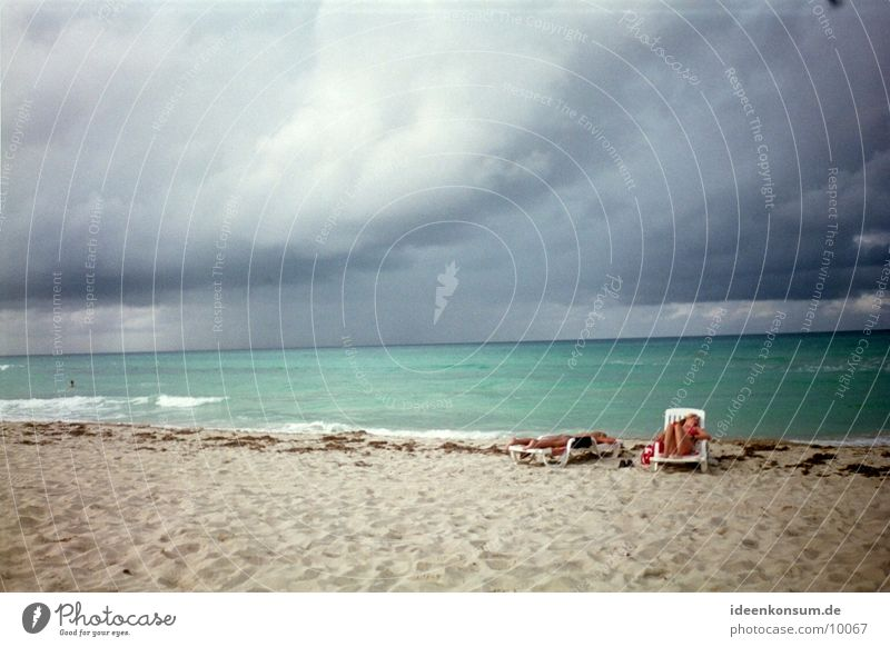 Sky Sun Ocean Beach Clouds Dark Cuba
