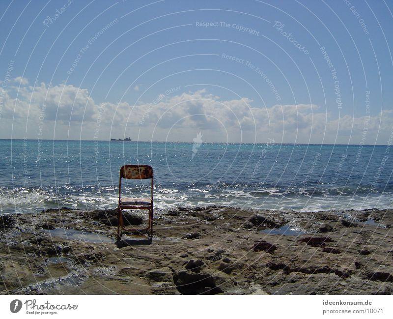 chair Ocean Beach Rust Loneliness Mexico Chair Rock Cuba