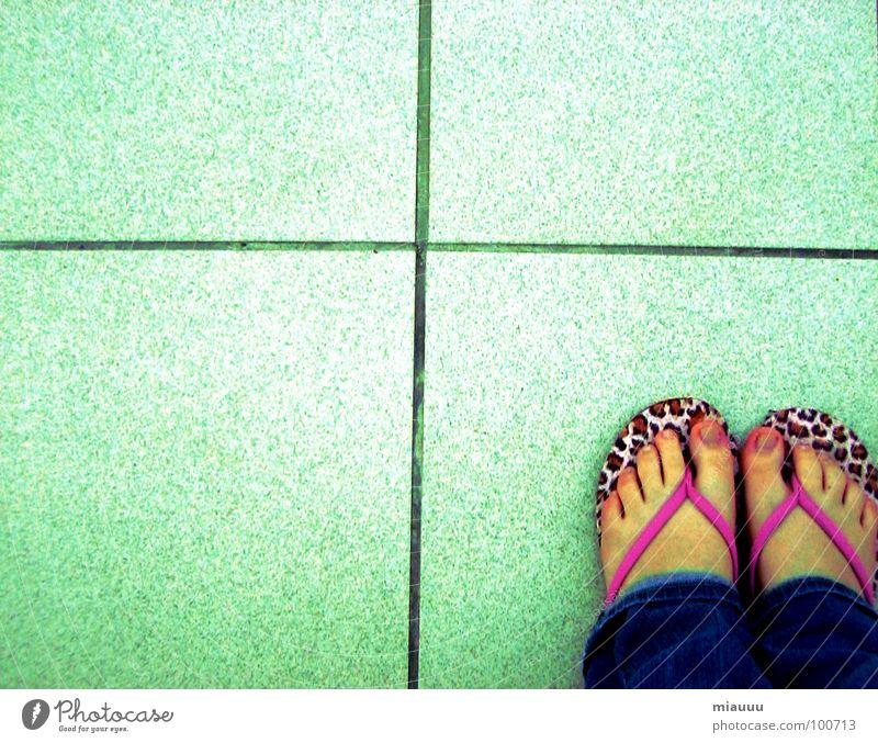 flip flop feet Flip-flops Panther Pattern Beautiful Obscure Back Feet leo Loneliness