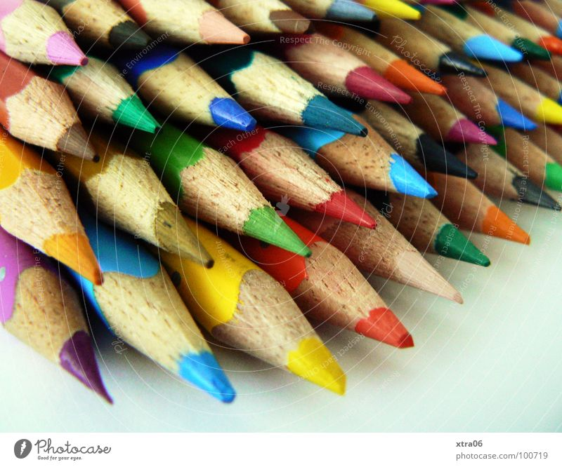 Colour Wood Together Crazy Multiple Point Things Painting (action, work) Many Draw Pen Rainbow Education Heap Crayon Dart