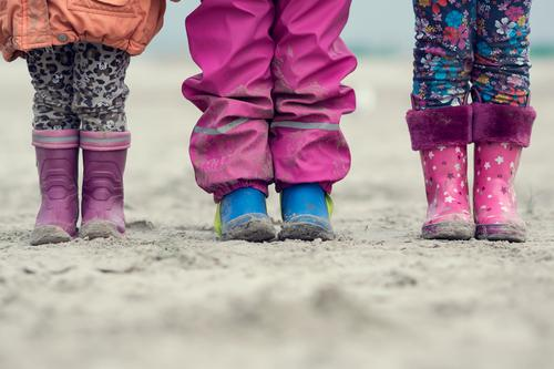 Human being Child Nature Blue White Life Happy Healthy Sand Feet Pink Friendship Together Orange Contentment Authentic