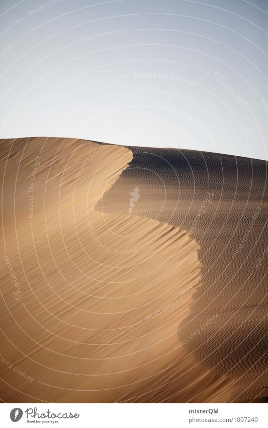 Sand wave. Environment Nature Landscape Climate Climate change Beautiful weather Wind Hill Esthetic Contentment Dune Undulation Desert Warmth Sahara