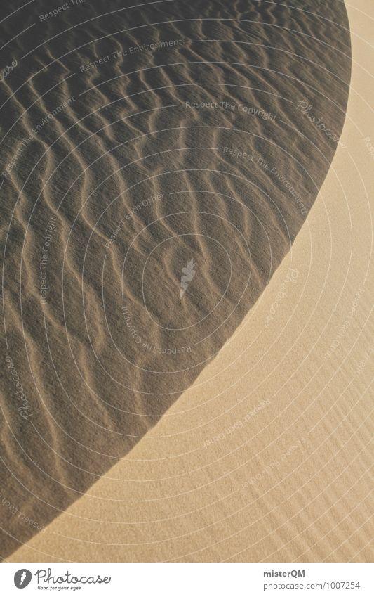 Sand swing. Environment Nature Landscape Esthetic Contentment Beach dune Symmetry Pattern Desert Sahara Colour photo Subdued colour Exterior shot Close-up