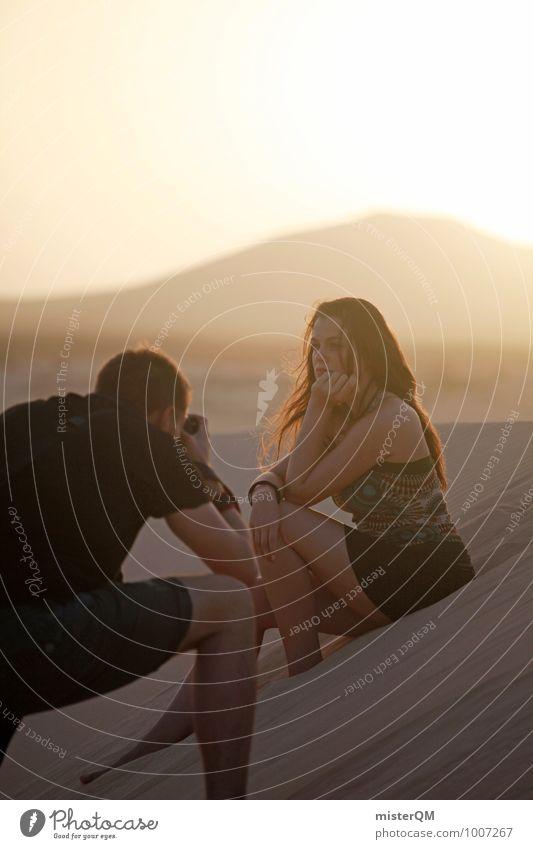 Woman Vacation & Travel Relaxation Feminine Moody Horizon Idyll Photography Model Dune Advertising Skirt Teamwork Workplace Inspiration Identity