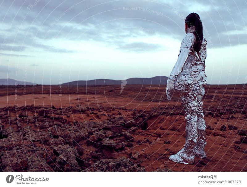Hello V Art Adventure Esthetic Work of art Stage play Futurism Future Dream of the future Phenomenon Human being Film industry Astronaut Mars Martian landscape