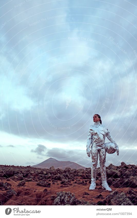 Hello VII Art Adventure Esthetic Creativity Design Woman Emancipation Astronaut Mars Martian landscape Power Human being Universe Extraterrestrial being