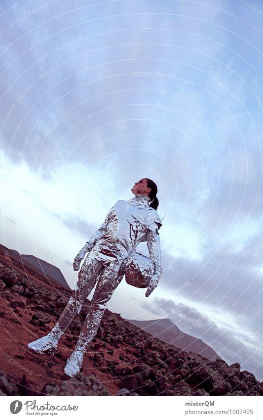 Hello VIII Art Esthetic Arrogant Astronaut Extraterrestrial being Space station Universe Pioneer Human being Astronautics Space helmet Space agency Futurism