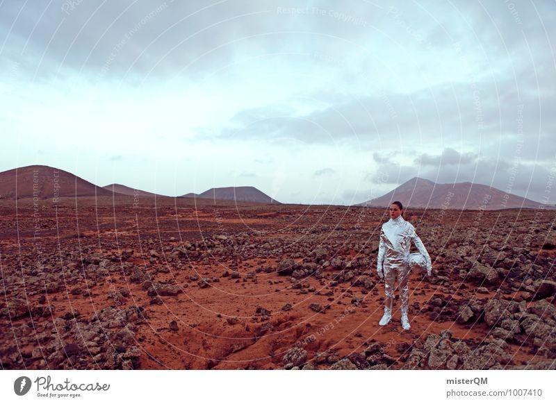 Hello I Art Work of art Sculpture Esthetic Contentment Theatre Film industry Extraterrestrial Mars Woman Woman's body Pioneer Astronaut Universe Futurism Future