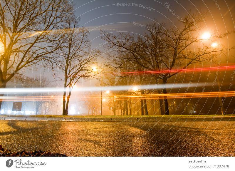 The last bus December Dark Illumination Light Night Moody Lantern Street lighting Floodlight Car headlights Long exposure Dynamics Haste Rush hour Tree