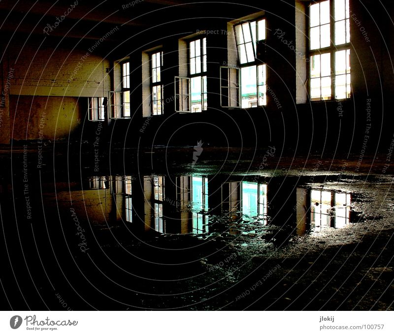 Water Old House (Residential Structure) Loneliness Window Building Rain Lighting Dirty Wet Concrete Large Back Tall Empty