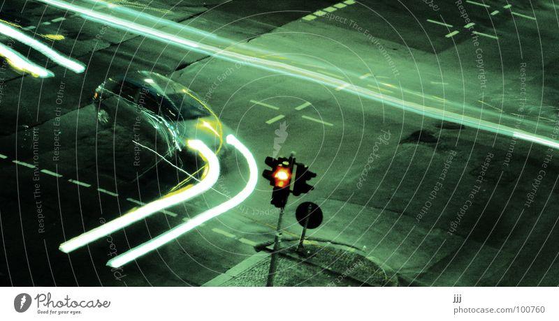 Red Lamp Lanes & trails Car Signs and labeling Transport Speed Dangerous Asphalt Tracks Past Traffic light Flexible Mixture Floodlight Haste