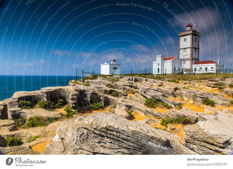 Lighthouse at Cabo Carvoeiro from land Vacation & Travel Tourism Trip Adventure Far-off places Freedom Sightseeing Summer vacation Ocean Environment Nature