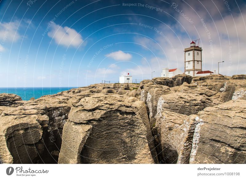 Lighthouse near Cabo Carvoeiro with rocks Vacation & Travel Tourism Trip Adventure Far-off places Freedom Summer vacation Environment Nature Landscape Plant