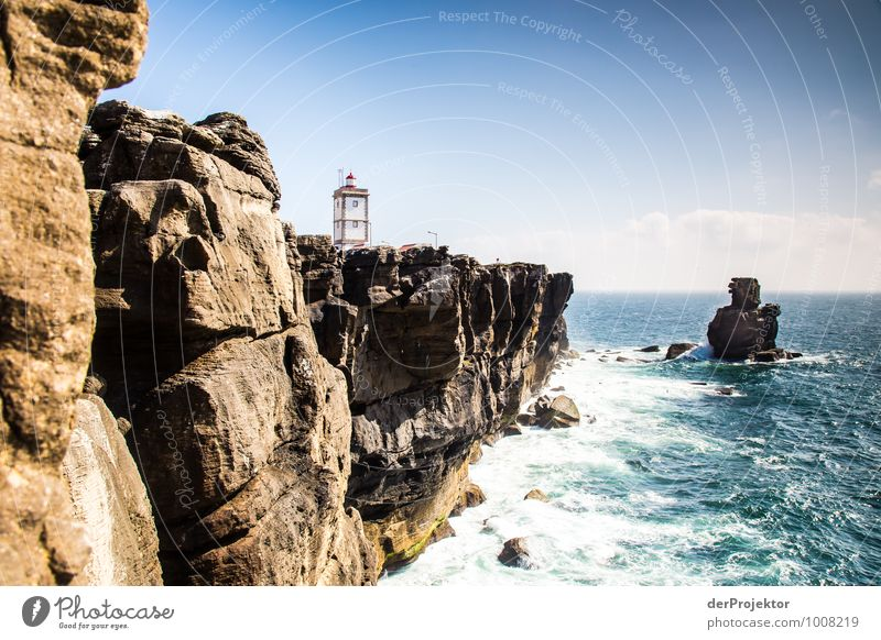 Lighthouse on the Peniche Peninsula Vacation & Travel Tourism Trip Adventure Far-off places Freedom Sightseeing Cruise Summer vacation Hiking Environment Nature