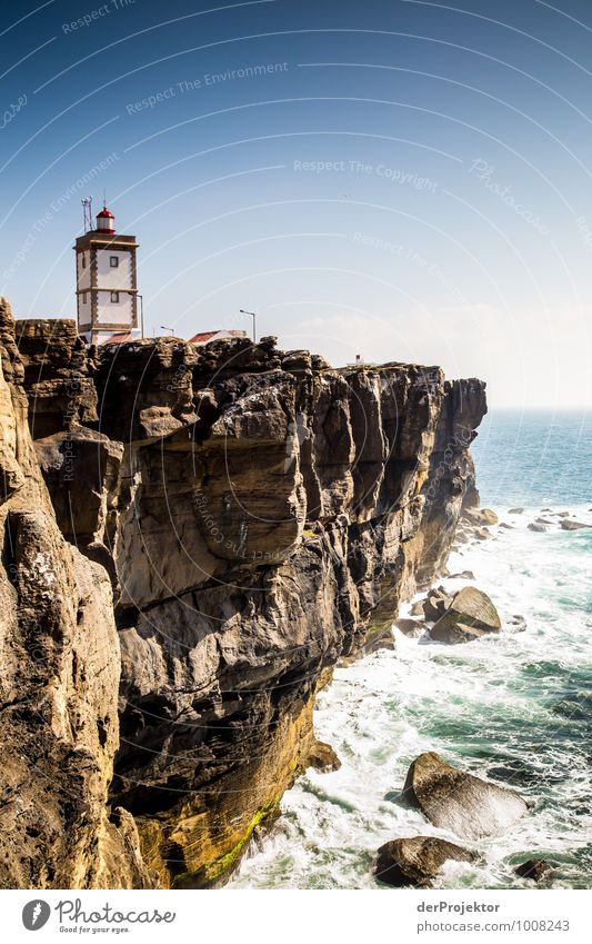 Lighthouse at Cabo Carvoeiro 2 Vacation & Travel Tourism Trip Far-off places Freedom Sightseeing Environment Landscape Plant Summer Rock Waves Coast Lakeside