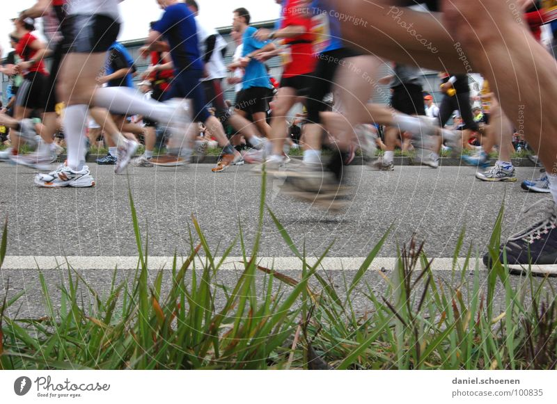 recently at the marathon (part 2) Jogging Speed Footwear Sneakers Endurance Motion blur Marathon Sports Playing Sporting event Competition Fitness Walking