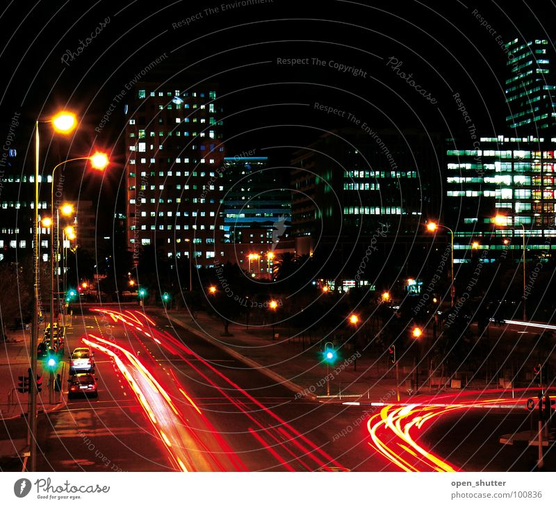 Cape Town Central South Africa Long exposure Transport night streets lights cars offices roads