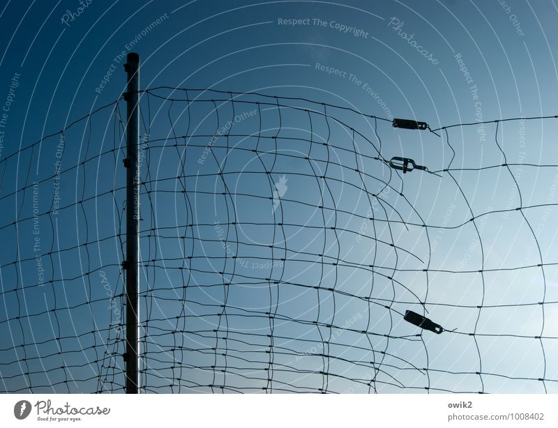 web Cloudless sky Metal Plastic Thin Blue Considerate Testing & Control Network Safety Flexible Boundary Barrier Fence Narrow Wire netting fence Holder