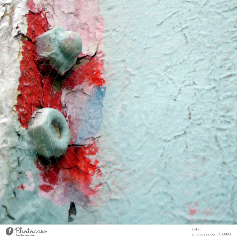 Old Red Colour Wall (building) Dye Wall (barrier) Metal Background picture Decline Iron Screw Varnish Flake off Painted Paints and varnish Varnished