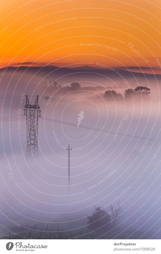 Two masts and two islands in a sea of fog Leisure and hobbies Vacation & Travel Tourism Trip Adventure Far-off places Freedom Technology Energy industry