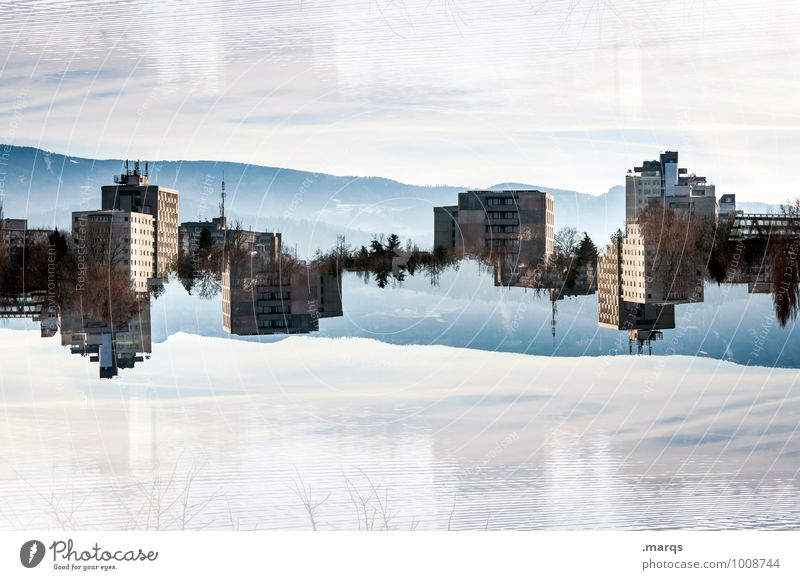 Sky Life Style Exceptional Lifestyle Horizon Living or residing High-rise Crazy Beautiful weather Skyline Irritation Double exposure Surrealism Symmetry Rent