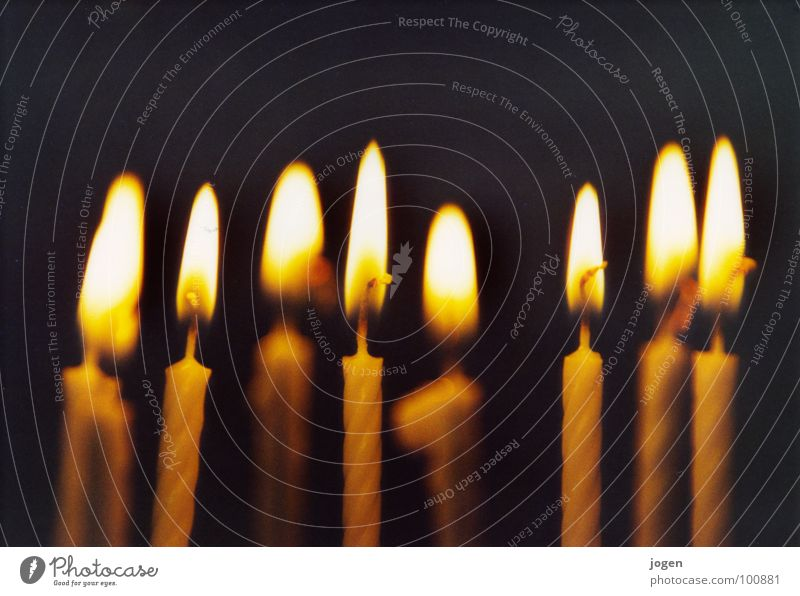 lights Candle Light Black Yellow Macro (Extreme close-up) Depth of field Blur Blow Desire Hope Lighting Candlelight Burn Ignite Happy Birthday Congratulations
