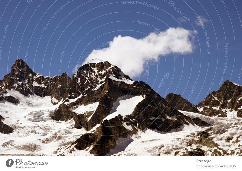 Clouds Far-off places Snow Mountain Stone Landscape Power Hiking Rock Tall Perspective Might Dangerous Tourism Level Vantage point