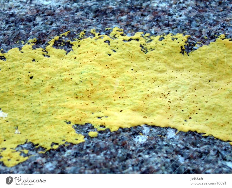 Yellow Colour Stone Line Painting (action, work) Obscure Material Paintbrush Rough Painted
