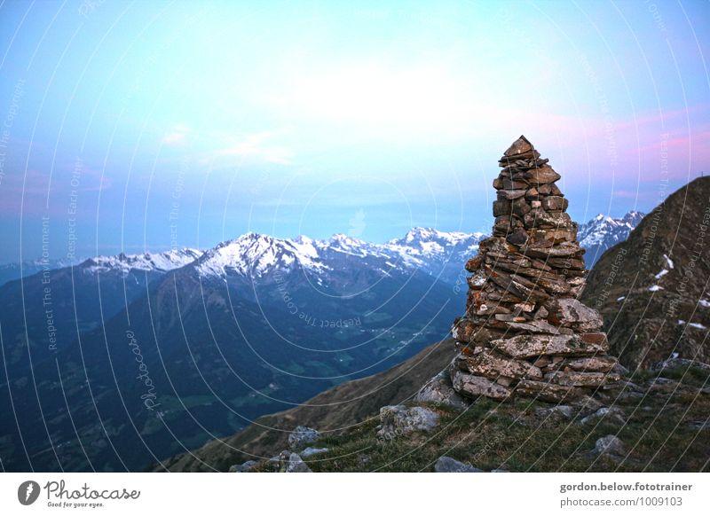 Nature Vacation & Travel Blue Landscape Calm Far-off places Cold Mountain Freedom Rock Horizon Tourism Hiking Adventure Elements Peak