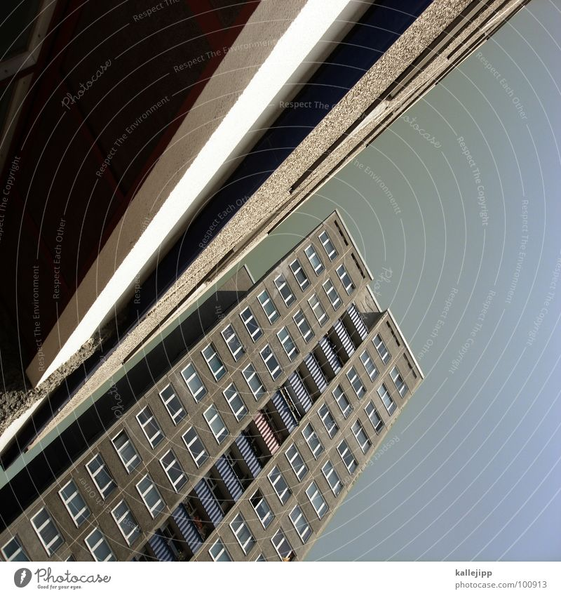 Sky City Life Berlin Window Landscape Architecture Room Concrete High-rise Facade Round Level Letters (alphabet) Living or residing Balcony