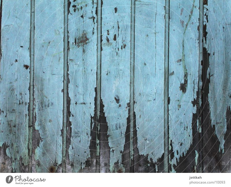 Wood in the best years Paintwork Decline Broken Photographic technology Blue Colour Door Old Derelict