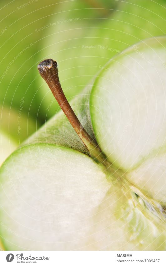 Detail of a green apple Food Fruit Apple Nutrition Vegetarian diet Environment Nature Fresh Delicious Green Apple skin Sliced organic Biological biologically