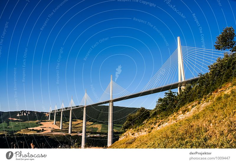 The Millau Viaduct Vacation & Travel Tourism Trip Far-off places Freedom Sightseeing Environment Landscape Field Hill Transport Traffic infrastructure Motoring