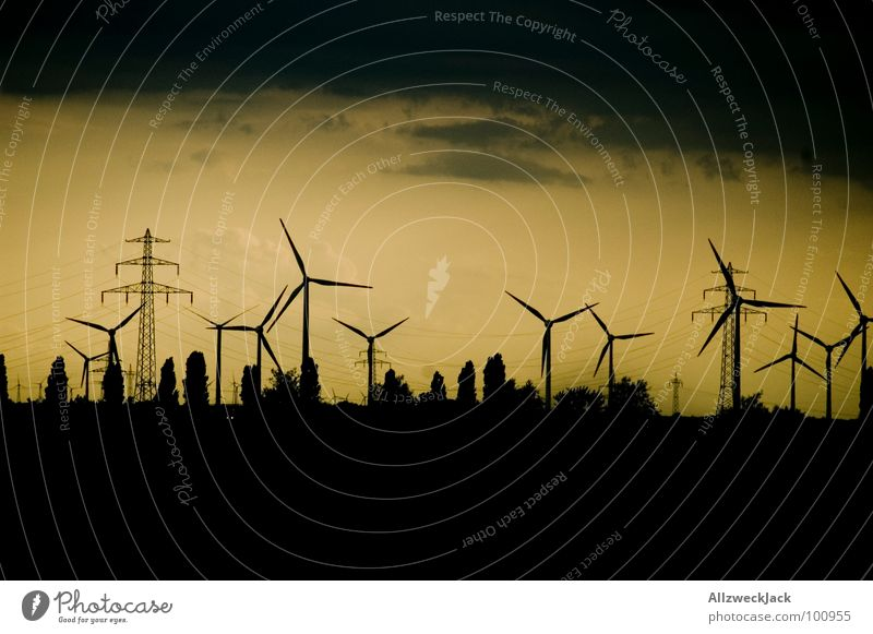 Sky Wind Horizon Industry Energy industry Electricity Gale Wind energy plant Services Electricity pylon Ecological Organic produce Eco-friendly Renewable energy