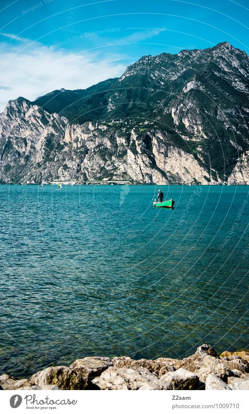 Sky Nature Vacation & Travel Man Summer Relaxation Loneliness Landscape Calm Adults Mountain Natural Lake Watercraft Masculine Leisure and hobbies