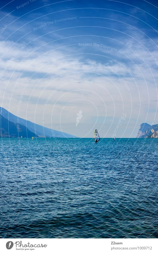 lago di garda Lifestyle Elegant Style Leisure and hobbies Vacation & Travel Tourism Summer vacation Mountain Aquatics Surfing 1 Human being Nature Landscape Sky