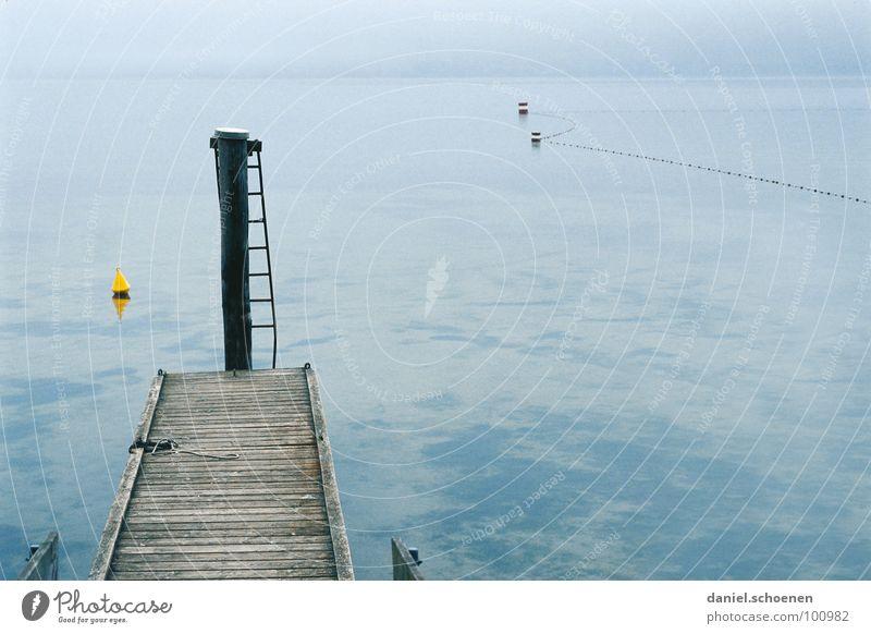 Water Blue Calm Yellow Autumn Gray Lake Fog Background picture Horizon Grief Gloomy Footbridge Distress Ladder