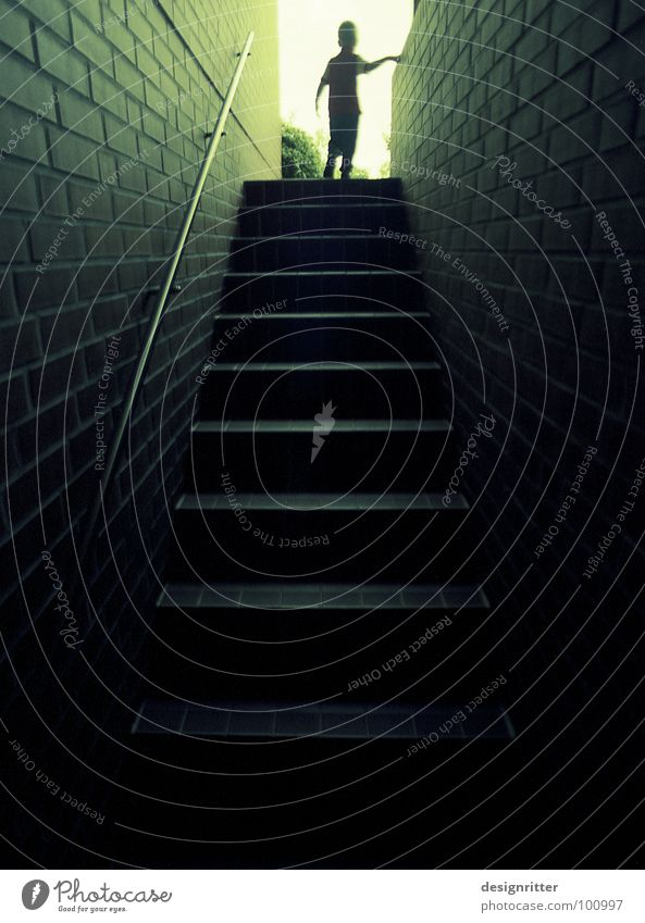 Dark Above Lanes & trails Bright Horizon Tall Hope Stairs Under Direction Upward Positive Go up Cellar Way out