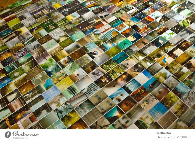 photos album Detail Section of image Selection Image Photography Art gallery Crowd of people Many Lie Arrange Exhibit Multicoloured Colour Background picture