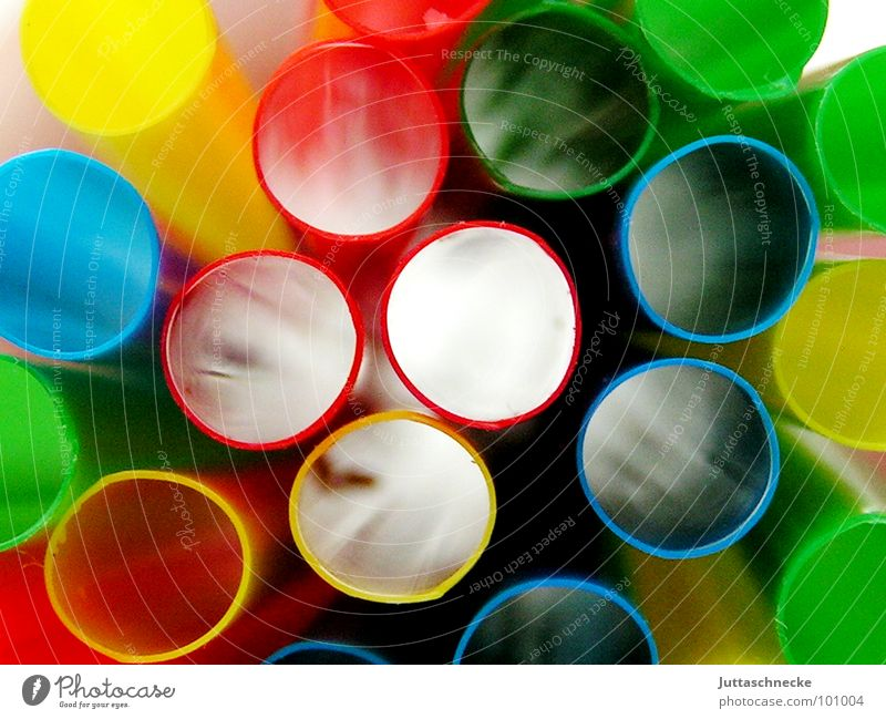 "transparency Straw Multicoloured Summer Vista Round Colour Decoration ""Drinking straws"" colourful colours Juttas snail see through ""Look through."""