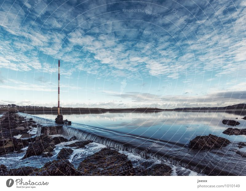 ice water Landscape Sky Clouds Horizon Beautiful weather Idyll Environment Colour photo Exterior shot Deserted Day Contrast Reflection Deep depth of field