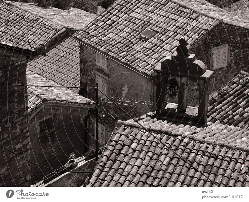 Mediterranean Roof Landscape House (Residential Structure) Istria Village Downtown Old town Populated Church Building Wall (barrier) Wall (building) Facade