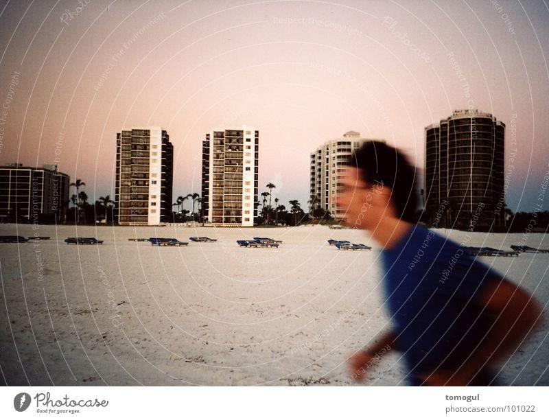 Florida Sunset Beach Dusk Vacation & Travel Jogger Motion blur Playing Lomography Runner