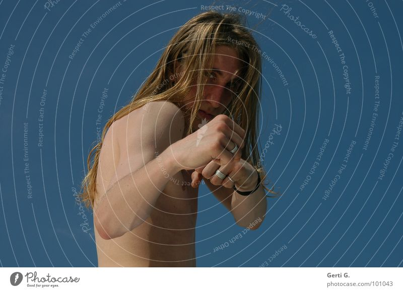 Human being Man Youth (Young adults) Eyes Sports Naked Healthy Blonde Skin Dangerous Force Circle Shows Posture Protection Thin
