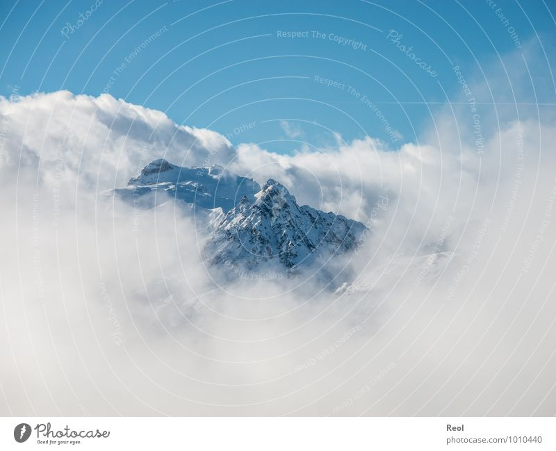 Sky Nature Old Blue White Landscape Clouds Winter Mountain Environment Snowfall Wild Weather Fog Earth Vantage point