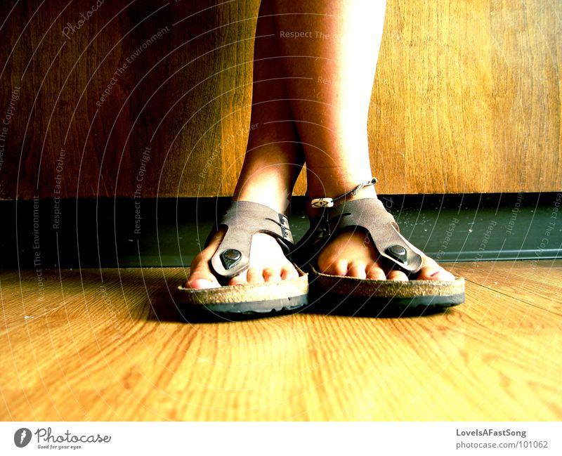 timid shoes Wood flour Kitchen feet legs tan anklet bare feet tip toe brown symmetry calf Calves bright sunlight sunshine toot Sit Cross Legged sandals