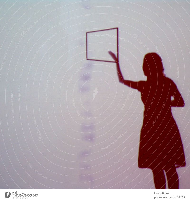 Shadow play 02 Window Strange Woman Feminine Silhouette Action Reaction Mysterious Withdrawn Think Bag Portrait photograph Vantage point Good mood Formulated
